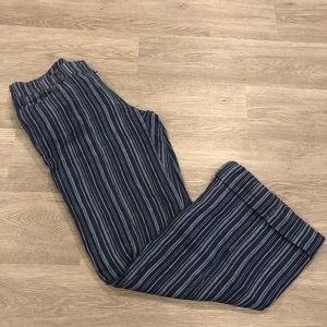 Maje Wide Leg Striped Wool Pants Size 8